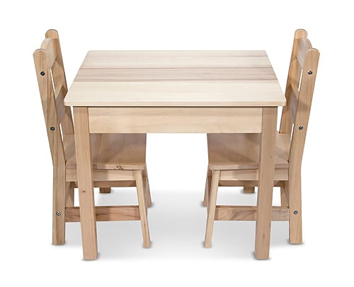 Wooden Table & Chairs 3 Piece Set
