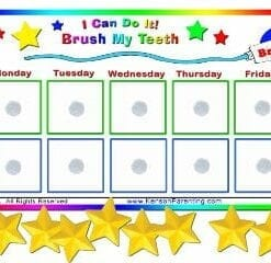 Brushing teeth chart toy store
