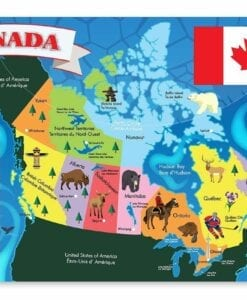Canada Map Floor Puzzle - 48 Piece
