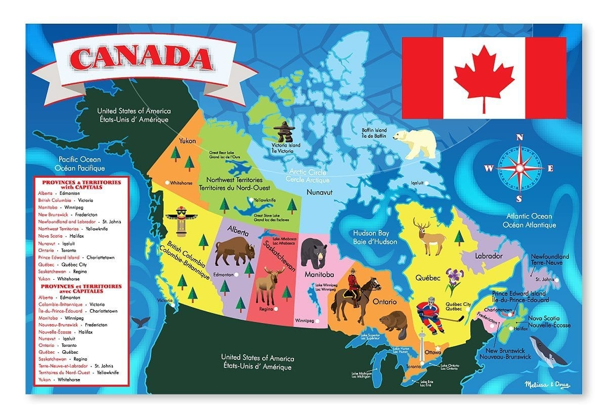 This is a graphic of Decisive Printable Map of Canada